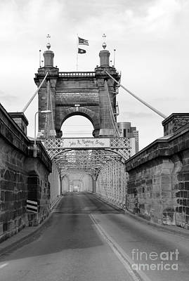 Photograph - John A Roebling Bridge by David Bearden