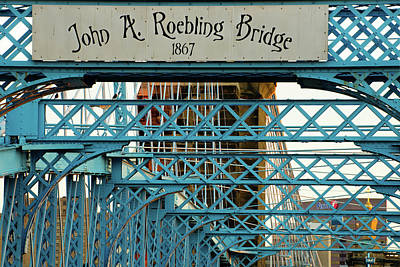 Photograph - John A. Roebling Bridge Up Close by Gregory Ballos