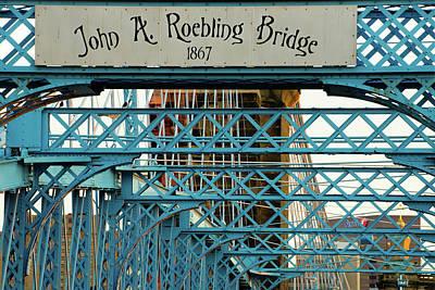 Photograph - John A. Roebling Bridge Up Close by Gregory Ballos