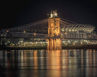 Photograph - John A. Roebling Suspension Bridge by Scott Meyer
