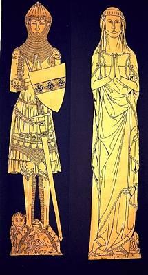 Brass Rubbing Tapestry - Textile - John And Alyne De Creke.jpg by William Streett