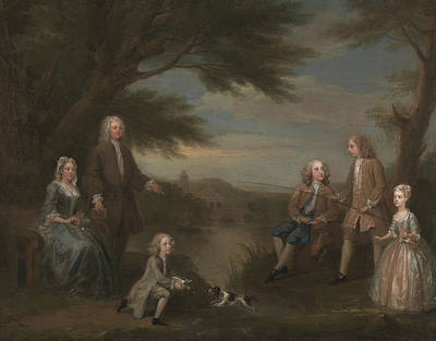 Painting - John And Elizabeth Jeffreys And Their Children by William Hogarth