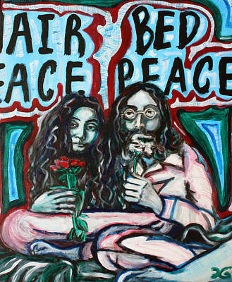 The Beatles Painting - John And Yoko by Hannah Curran