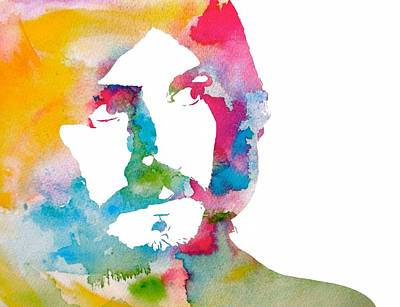Digital Art - John Bonham Watercolor by Dan Sproul