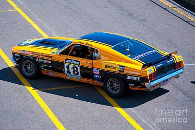 Muscle Car Masters Photograph - John Bowe Mustang by Stuart Row