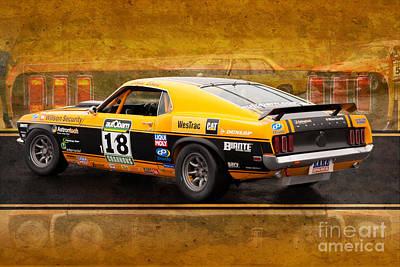 Muscle Car Masters Photograph - John Bowe's Mustang 'sally' by Stuart Row