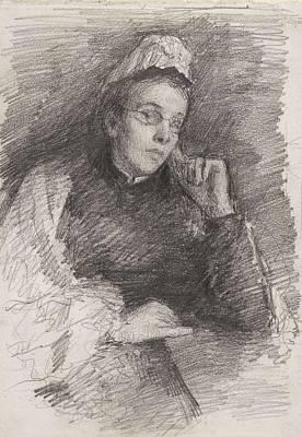 Kids Alphabet - John Butler Yeats 1839-1922 MRS JOHN BUTLER YEATS by John Butler Yeats