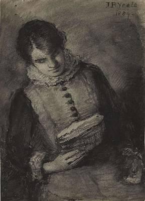 Katharine Hepburn - John Butler Yeats 1839-1922 WOMAN READING by John Butler Yeats