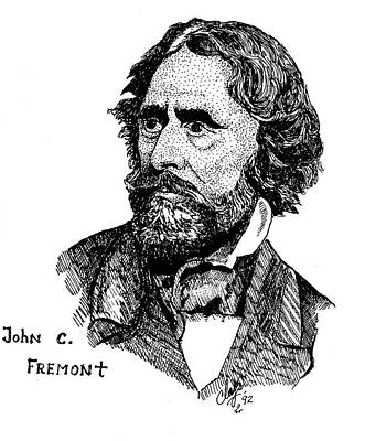 Drawing - John C. Fremont by Clayton Cannaday