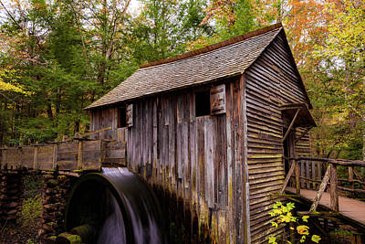 Photograph - John Cable Grist Mill II by Steven Ainsworth