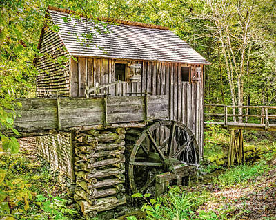 Photograph - John Cable Gristmill - Cades Cove by Nick Zelinsky