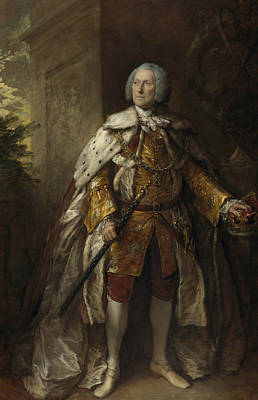 18th Century Painting - John Campbell 4th Duke Of Argyll by Thomas Gainsborough