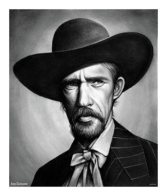 Drawings Royalty Free Images - John Carradine Royalty-Free Image by Greg Joens