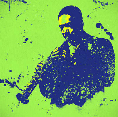 Painting - John Coltrane by Dan Sproul