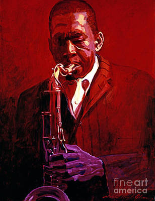 John Coltrane Painting - John Coltrane by David Lloyd Glover