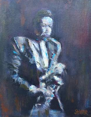 Painting - John Coltrane by Kathy Stiber