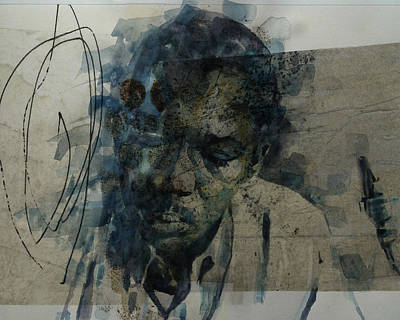Mixed Media - John Coltrane / Retro by Paul Lovering