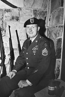 Bath Time - John Dane in Viet Nam  uniform American Fork Utah 1975 by David Lee Guss