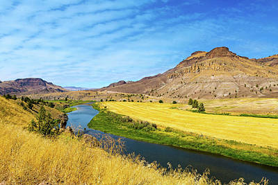 Rural Photograph - John Day River Panoramic View by David Gn