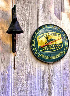 Photograph - John Deer Dinner Bell by Kristie  Bonnewell
