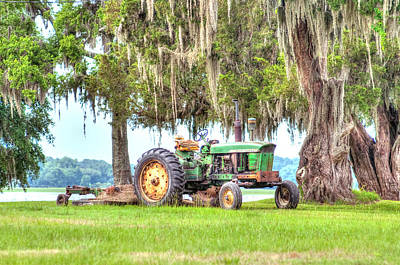 Photograph - John Deer Tractor Under The Old Cedar Tree by Scott Hansen