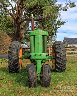 Photograph - John Deere 50 Vintage Tractor Plainfield New Hampshire by Edward Fielding