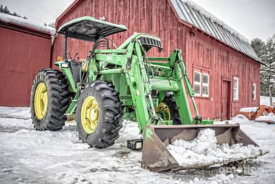 Photograph - John Deere 640 Farm Tractor by Edward Fielding