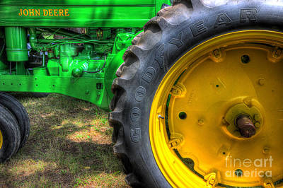 John Deere And Goodyear Art Print by Michael Eingle