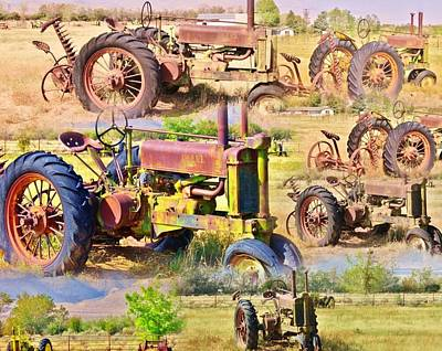 Photograph - John Deere Collage by Marilyn Diaz