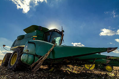 Photograph - John Deere Combine 608c by Ron Pate