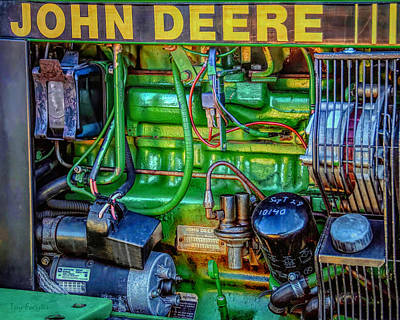 John Deere Engine Art Print