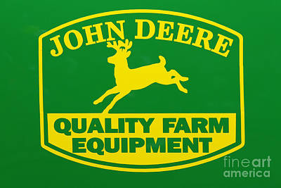 John Deere Farm Equipment Sign Art Print by Randy Steele