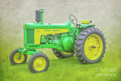 Digital Art - John Deere Farm Tractor by Randy Steele