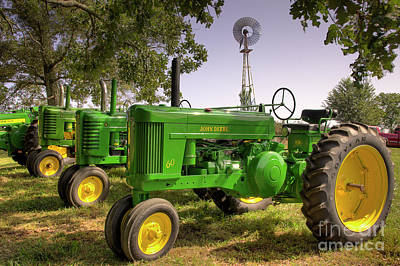Photograph - John Deere Gathering by Michael Eingle