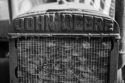 Photograph - John Deere In Monochrome by Printed Pixels
