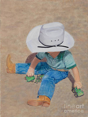 Danielle Smith Painting - John Deere Junior by Danielle Smith