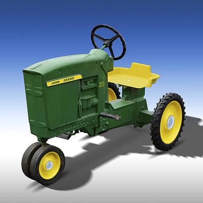Child Photograph - John Deere Peddle Tracter by Mike McGlothlen