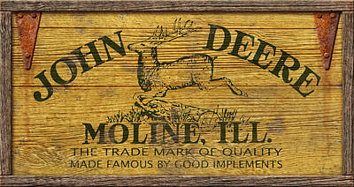 John Deere Sign Art Print by WB Johnston