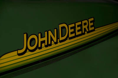 Machine Quilt Photograph - John Deere Signage Decal by Thomas Woolworth