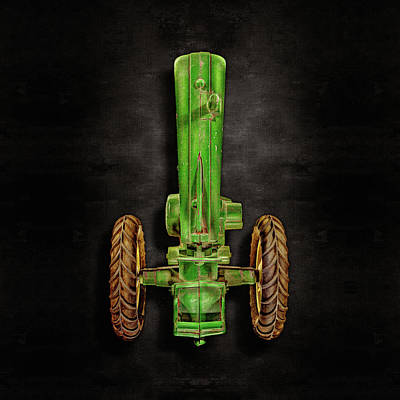 John Deere Top On Black Art Print