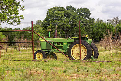 Photograph - John Deere Tractor by Art Block Collections