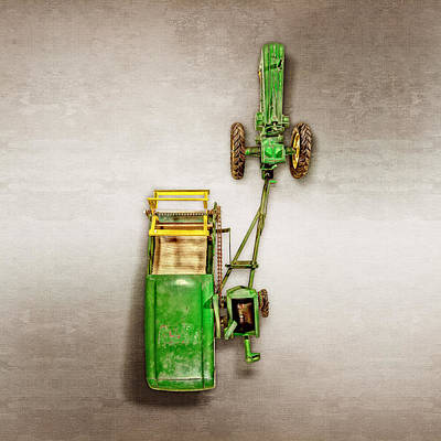 Play Room Photograph - John Deere Tractor Harvester by YoPedro