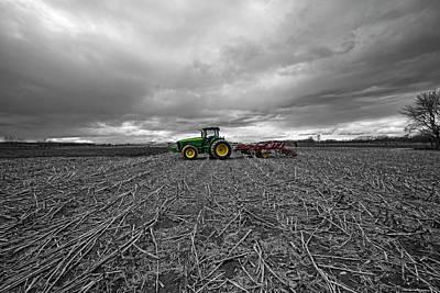 Photograph - John Deere Tractor On The Farm by Robert Seifert