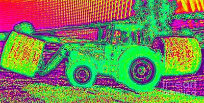 Photograph - John Deere Tractor Outstanding In Its Field 2 by Richard W Linford