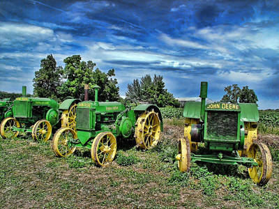 Photograph - John Deere Tractors by Ken Smith