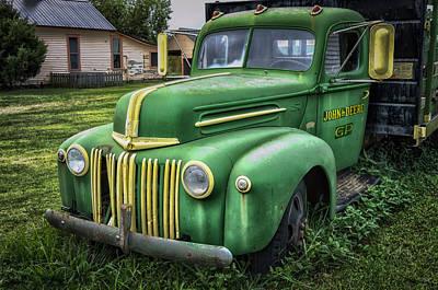 Photograph - John Deere Truck by James Barber