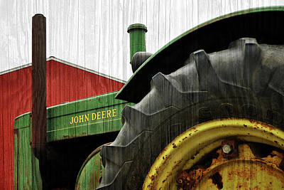 Photograph - John Deere With Wood Grain by Luke Moore