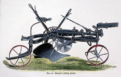 Photograph - John Deeres Riding Plow by Granger