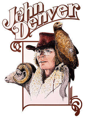 John Denver Mixed Media - John Denver Eagle by John D Benson