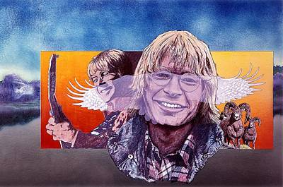 John Denver Mixed Media - John Denver by John D Benson